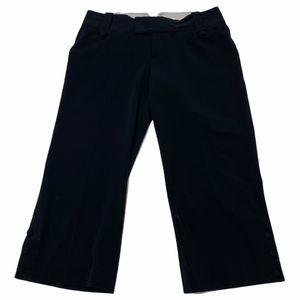 Mossimo Black Buttoned Leg Capri Cropped Pants 2